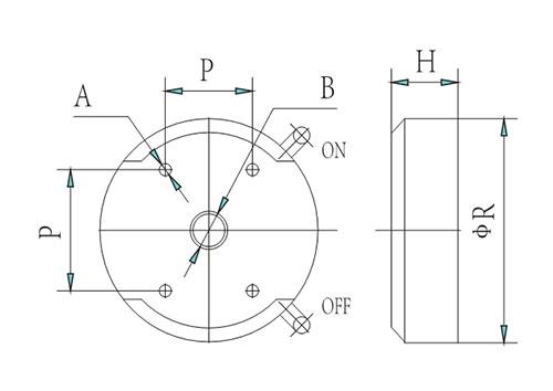 YFCL6-xx 磁力底座