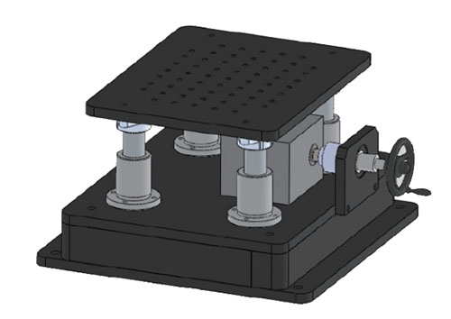 YFSS-XW-(行程)-(台面尺寸)B升降台